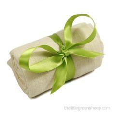 Servetele din muselina din bumbac organic The Little Green Sheep