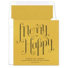 Merry Happy Greeting Cards - Real Simple (finestationery.com)