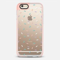 Pastel Confetti Sprinkles - New Standard iPhone 6/6S Case in Peach Pink by @rubyridgestudio #phonecase | @casetify