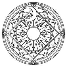 A magic circle (魔法陣 Mahoujin) is a figure composed by a great number of symbols related to the...