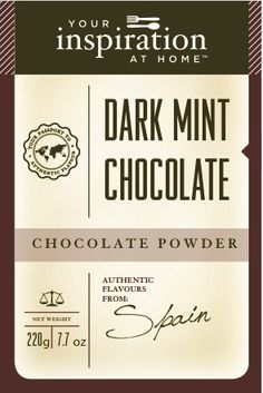 Fill your cup with goodness originating from distant lands, and only available from Your Inspiration at Home.  Chocolate Powders:  Whimsical, ethnically-inspired blends for fast, easy, unique chocolate drinks – hot or cold. Also delightful when folded into whipped cream or cream cheese for instant frosting. From $10.95 - $15.95