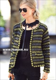 Irish lace, crochet, crochet patterns, clothing and decorations for the house, crocheted. Gilet Crochet, Crochet Coat, Crochet Jacket, Crochet Cardigan, Love Crochet, Crochet Clothes, Irish Crochet, Chanel Style Jacket, White Dresses For Women