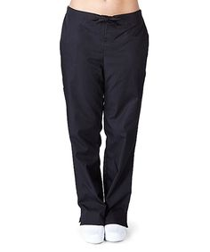 Take a look at this Black Straight-Leg Pants - Plus Too today!