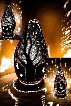 100% HANDMADE Gourd lamps Turkish lamps Ottoman light table
