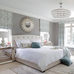 Beautiful bedroom by @KateRumson,