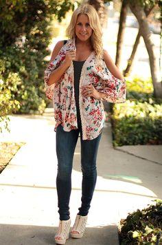 English Garden Kimono, Be Inspired Boutique #inspiredbyyou #lovethisboutique