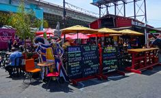 SOMA StrEat Food Park in San Francisco http://placesiveeaten.blogspot.com/2014/05/table-for-one-eating-single-in-big_27.html