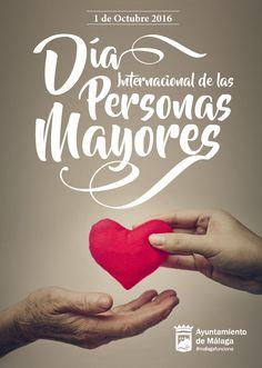 Nuestro cartel diseñado para el Ayuntamiento de Málaga con motivo del Día Internacional de las Personas Mayores.   #abuelos #corazón #diseño