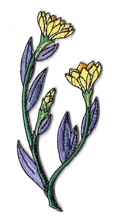 Flower - Wild Flowers - Gardening - Spring - Embroidered Iron On Applique Patch #Unbranded