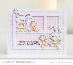 Snuggle Bunnies, Snuggle Bunnies Die-namics, Split Triangle Background, Blueprints 27 Die-namics - Anna Kossakovskaya #mftstamps