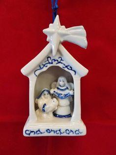 Delft Nativity Ornament | eBay