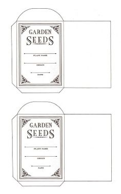 [How To] Make your own seed packets (free template