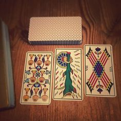 Feb 21 - today's cards  Eight of Cups/ One of Wands/ Eight of Wands…