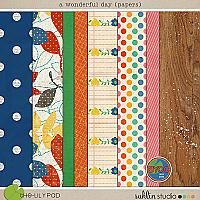 For baby scrapbook?  {a wonderful day (papers) by sahlin studio}