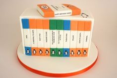 Book Cakes: Eat this when you're feeling vintage and hip. via @Kaitlyn Gaudion Riot