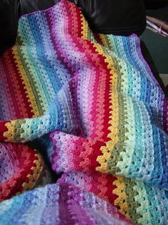 Granny stripes afghan - by felicitycot on Ravelry