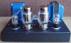 12SL7 SRPP / KT88 Push-Pull Tube Amp - Cover Removed