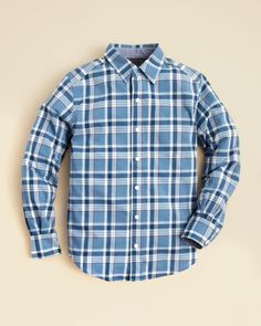 Vince Boys' Plaid Utility Button Down Shirt - Sizes S-xl