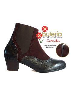 96e45f180528d Botas de flamenco Conde fabricada en ante chocolate y coco niger