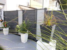 "Deluxe-Betonzaun Motiv ""Fels -Das Original"" mit Granit-Tacos : Fencing & walls by Morganland Fence, The Originals, Stylish, Garden, Modern, Camille, Plants, Garden Fencing, Granite"