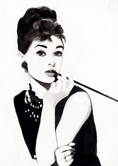 audrey hepburn illustration.