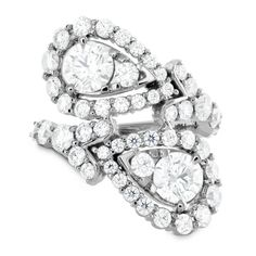 How beautiful is this Aerial Victorian Bypass Diamond Ring by Hearts On Fire?  | Anderson Bros. Jewelers