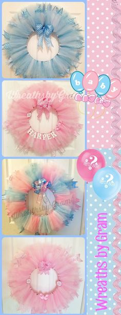 Baby shower ideas; Baby Girl; Baby Boy; Gender Reveal Ideas; Pregnancy Announcement; Nursery Decor; Baby Wreath; Baby Wreath for Hospital Door; Baby Stuff; Baby Nursery; Baby Announcement; Boy or Girl Gender Reveal  #wreaths #babywreath #babyshowerideas #babyshower #genderrevealideas #babygirl #babyboy #nurserydecor #babynursery #boyorgirl #babystuff #babyannouncement #pregnancy
