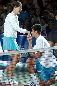 HILARIOUS photo essay on why Ana and Novak should always play together.