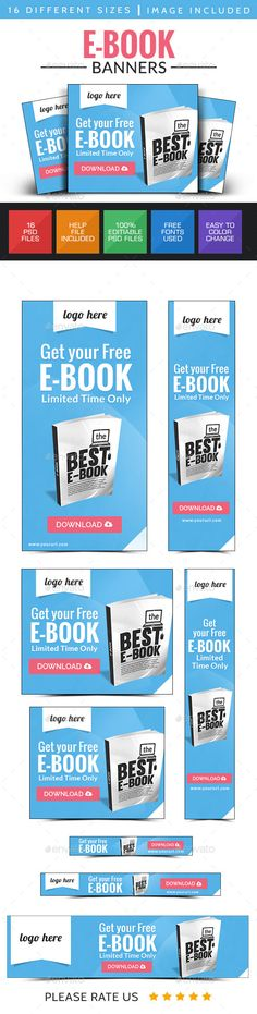 E-Book Web Banner Design Template PSD | Buy and Download: http://graphicriver.net/item/ebook-web-banner-design-/8980448?WT.ac=category_thumb&WT.z_author=doto&ref=ksioks