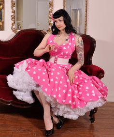 1950s Halterneck Retro Fabric Dress from Vivien of Holloway | 1950s Dresses from Vivien of Holloway