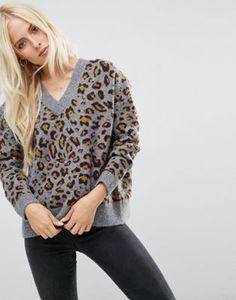 ASOS - Pull à imprimé léopard