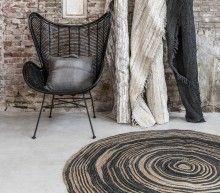 Inspiration Déco // le tapis en jute HK Living à motif tronc by Etoile and Company.