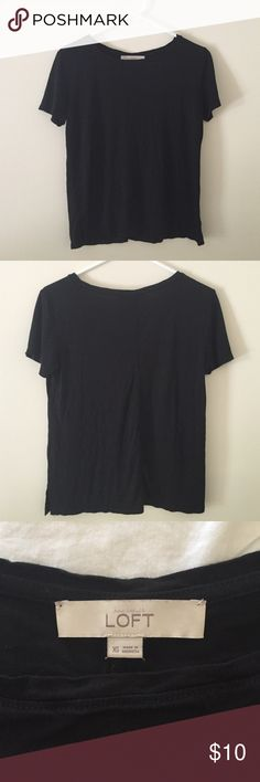 Anne Taylor Loft black tee Soft and comfy. Great condition! LOFT Tops Tees - Short Sleeve