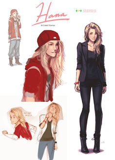 Hana sketches 2 by dCTb on deviantART. Character Design/ Reference Drawings/ Sketches Inspiration ^*^One of my MC's best friends. Her name is Hannah LeBeau. Character Sketches, Female Character Design, Character Design References, Character Design Inspiration, Character Illustration, Character Concept, Art Sketches, Character Art, Concept Art