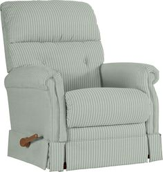Not your Daddy's La-Z-Boy, Amelia puts a decidedly feminine spin on comfort. More petite in scale, with roll arms, button details and a skirted chaise seat that makes reclining look and feel fabulous. With smooth gliding, reclining and swivel motion, your relaxing possibilities are endless. Also available with PowerReclineXR – the only rocker recliners that offer an independent power-adjust back and legrest that lets you enjoy unlimited reclining positions.