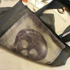 One more awesome looking comfortable zippered tote will be available soon in my Etsy shop