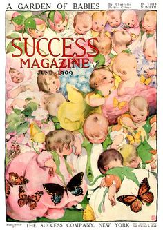 Vintage Magazine Cover - Success Magazine - cover by Fanny Cory