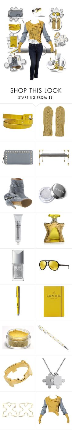 """""""Puzzles & Pieces"""" by coollavinia ❤ liked on Polyvore featuring Amen, Lowie, Valentino, Jonathan Adler, Maison Margiela, Meraki, Bond No. 9, Christian Dior, Ray-Ban and Lamy"""