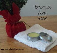 Get clear skin, naturally, with this simple salve.  Easy to make.