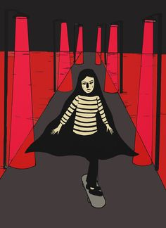 yourthirdeyearts:  A Girl Walks Home Alone At Night , 2015Roni Cortez