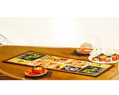 "Festive Fall Halloween Table Runner - 36"" Natco…"
