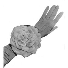 1953 Vintage Rose Wrist Bag Purse Sewing Pattern Supplies PDF ($3.50) ❤ liked on Polyvore