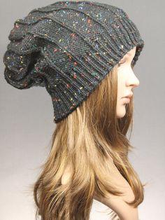 Winter Hat womens hat Slouchy Hat Knit Hat Womens by GoKnitsDotCom