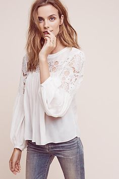 Magdalena Lace Blouse - anthropologie.com