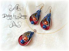 / Z odzysku. Diy Schmuck, Schmuck Design, Recycled Jewelry, Handmade Jewelry, Coffee Pods, Coffee Beans, Bijoux Diy, Beads And Wire, Diy Earrings