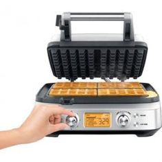 Breville - the Smart Waffle™ 4 Square with No Mess Moat
