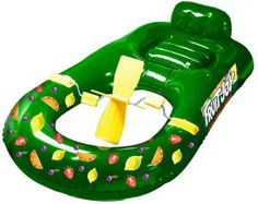 "Inflatable lounge pedal boat. Ideal for the swimming pool or the beach. Dimensions: 66.14"" x 35.83"". Includes repair kit and foot pump. This raft is a great display enhancer or dealer loader. 5 star rated for peace of mind."