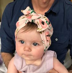 This Coral Floral Baby Turban is made of a stretchy cotton knit. (Also available in our shop as a Mommy and Me set). Includes one baby-toddler turban (choose size). Our items are true to size for most infants and have a little room to accommodate growth. However, when in doubt on