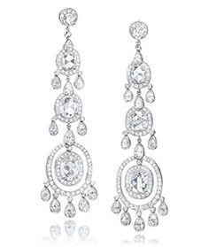 Diamond and Platinum a Earrings Jewelry Box, Jewelery, Jewelry Accessories, Fine Jewelry, Stone Earrings, Women's Earrings, Diamond Jewelry, Diamond Earrings, Designer Earrings