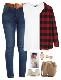 """""""2016 Tag!!"""" by evieleet ❤ liked on Polyvore featuring Frame Denim, Topshop, Madewell, Converse, Michael Kors, Carolee and singleladies"""